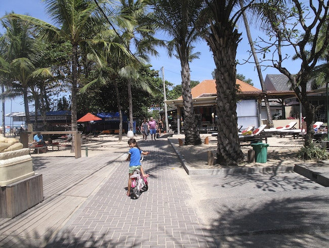Cruising on Sanur's Boardwalk