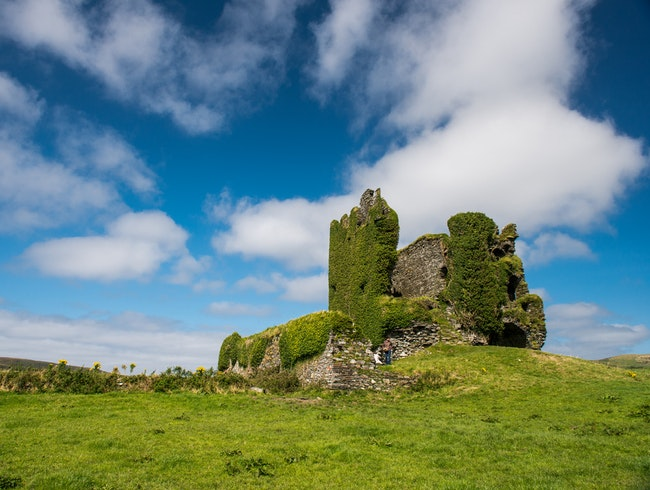Ballycarbery Castle, Ring of Kerry, County Kerry, Ireland.