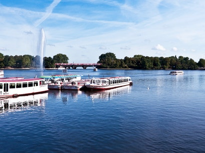 The Alster Lake Hamburg  Germany