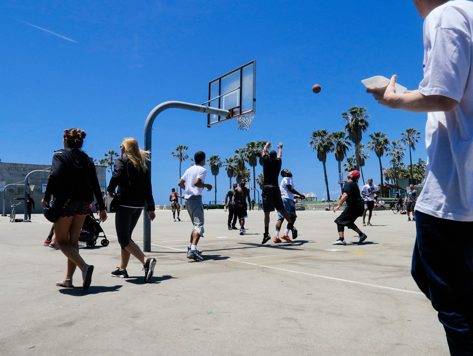 Basketball Courts, Venice  Half Moon Bay California United States