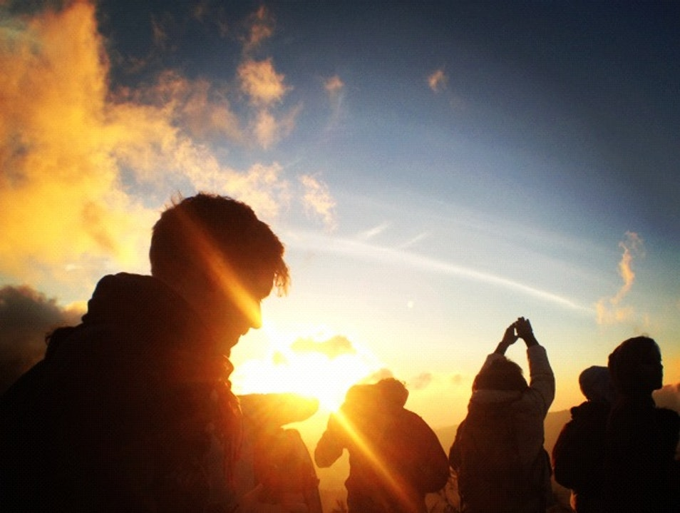 Sunrise over Bromo from Mount Penanjakan Wonokitri  Indonesia