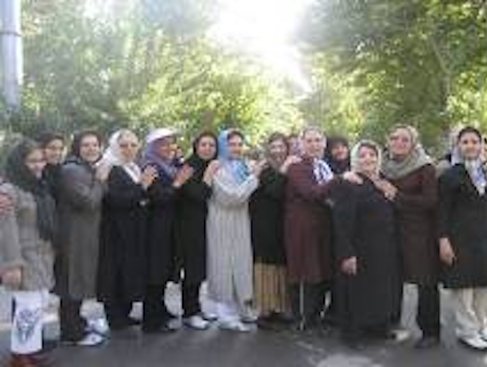 With the Ladies in Tehran..after our work-out together. Tehran  Iran