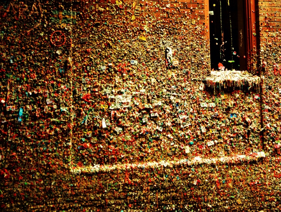 Gum Wall, Pike Place Market, Seattle  Seattle Washington United States