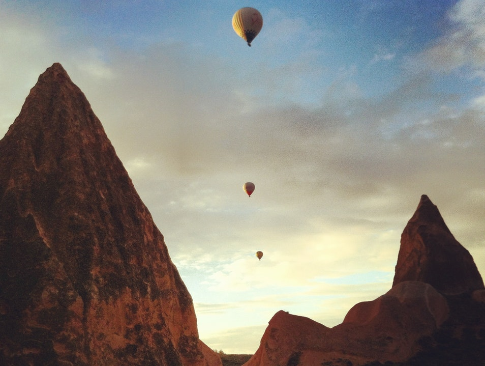 Flying Above Fairy Chimneys  Göreme Belediyesi  Turkey