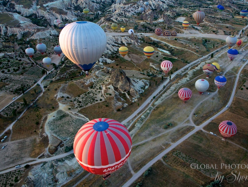 Up up and away in Cappadocia Turkey