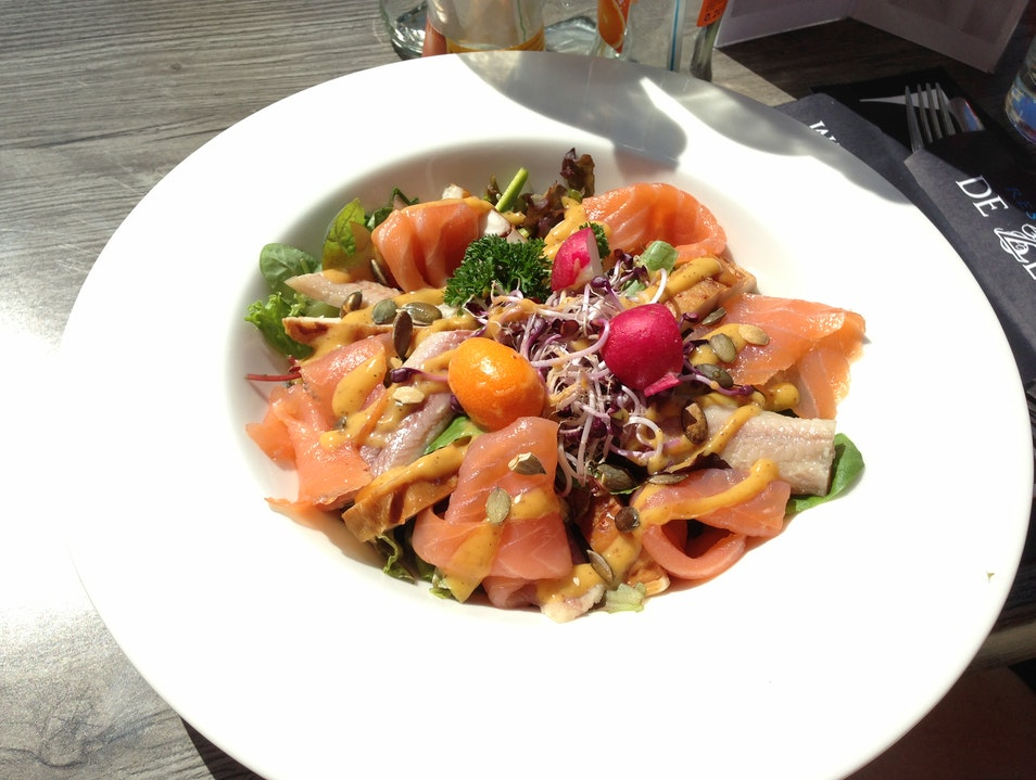 Best salad ever at De Zeebodem restaurant  Urk  The Netherlands