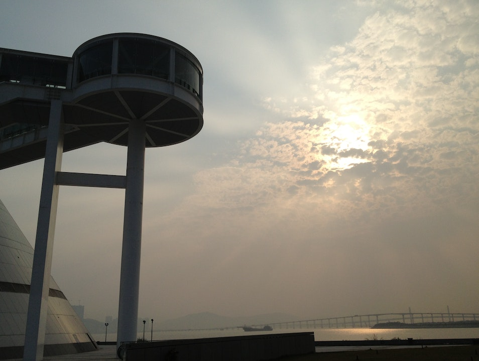 Sunset from I.M Pei's Macau Science Centre