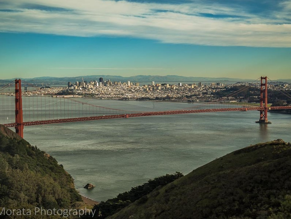 Walking the Golden Gate Bridge and views of the bay