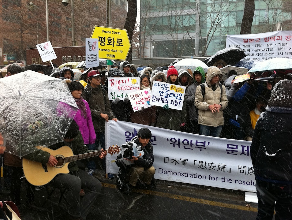 Longest Running Weekly Protest in Korea Seoul  South Korea