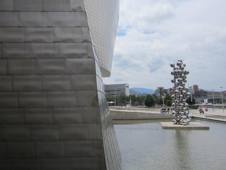 Looking out at the Guggenheim Bilbao  Spain
