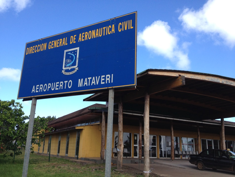 Easter Island's tiny Mataveri International Airport Isla de Pascua  Chile