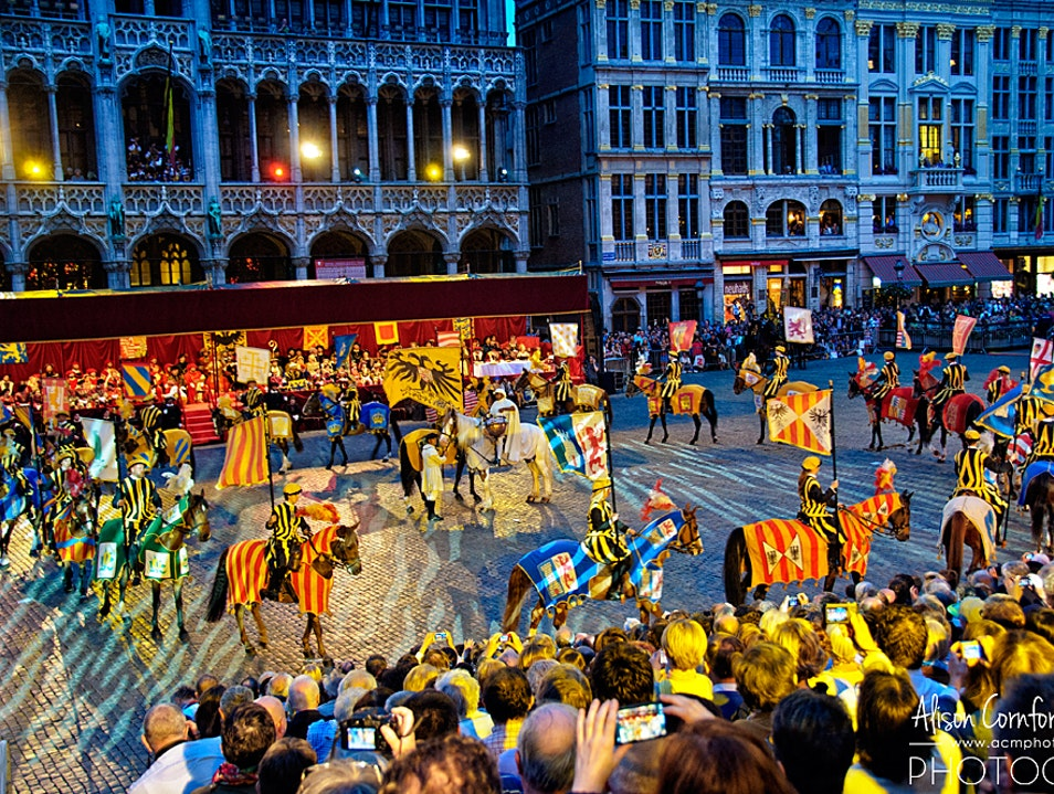 Ommegang—Brussels' Dramatic Historic Medieval Pageant  Brussels  Belgium