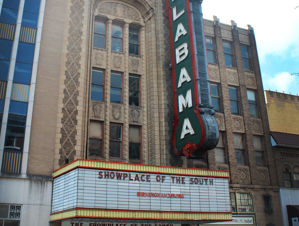 Golden Age of Cinema in the Heart of Downtown Birmingham Alabama United States