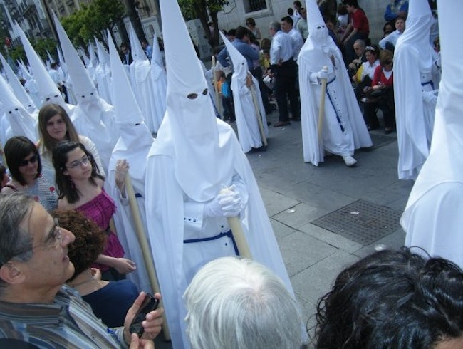 The holy parades in Seville