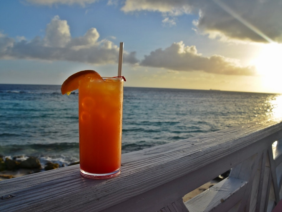 Sipping a Curacao Sunset Willemstad  Curaçao