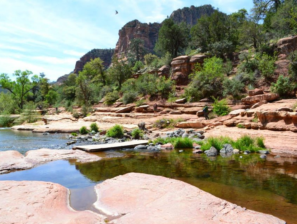 Cooling down at Slide Rock Sedona Arizona United States