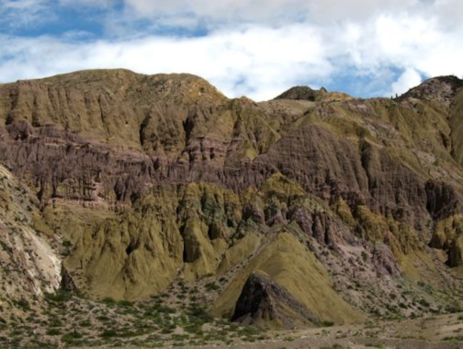 Who knew there were so many shades of green rock? Volcán  Argentina