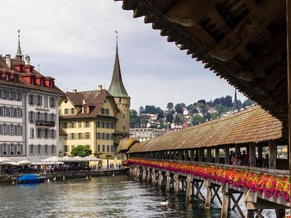 Chapel Bridge; Lucerne Luzern  Switzerland
