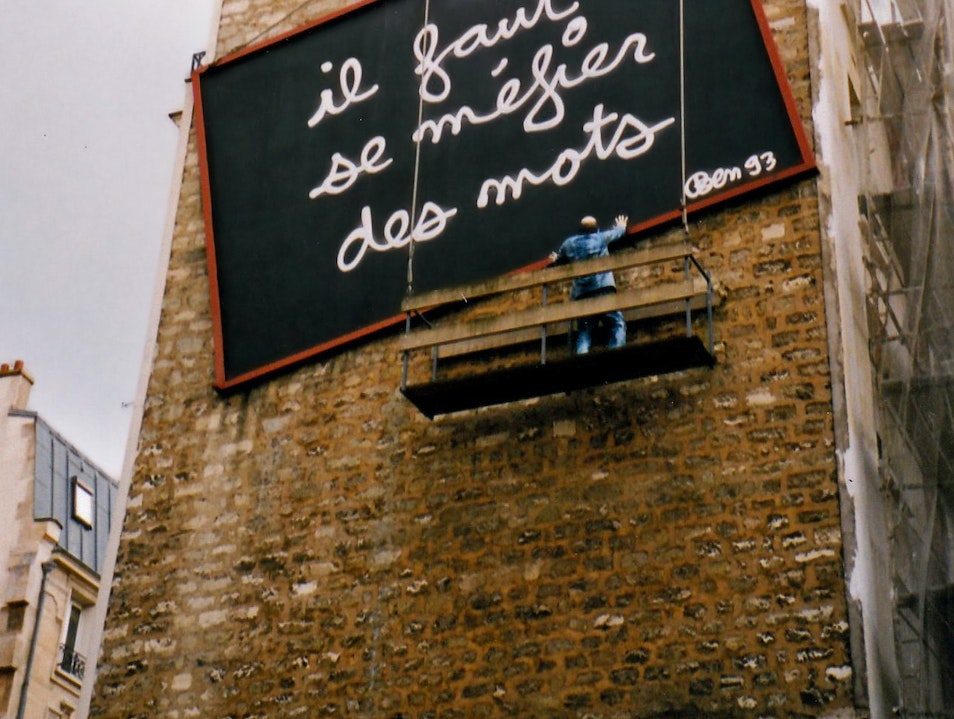 Unlikely art: 'beware of words' in Paris Paris  France