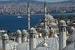 View of the Bosporus from Suleymaniye Mosque Istanbul  Turkey