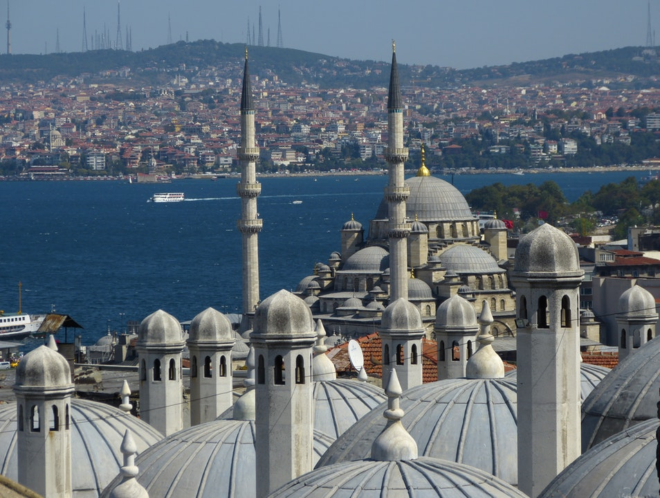 View of the Bosporus from Suleymaniye Mosque