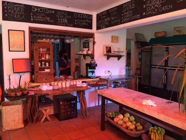 Organic cuisine in the heart of a mexican beach town