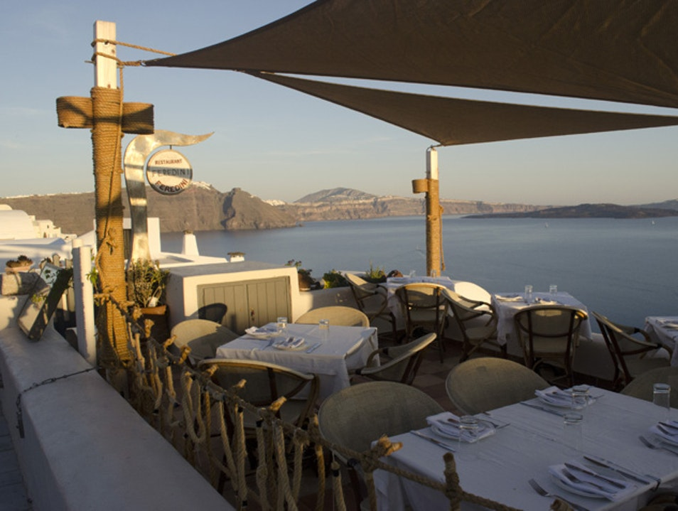 Dinning Under the Sunset Ia  Greece