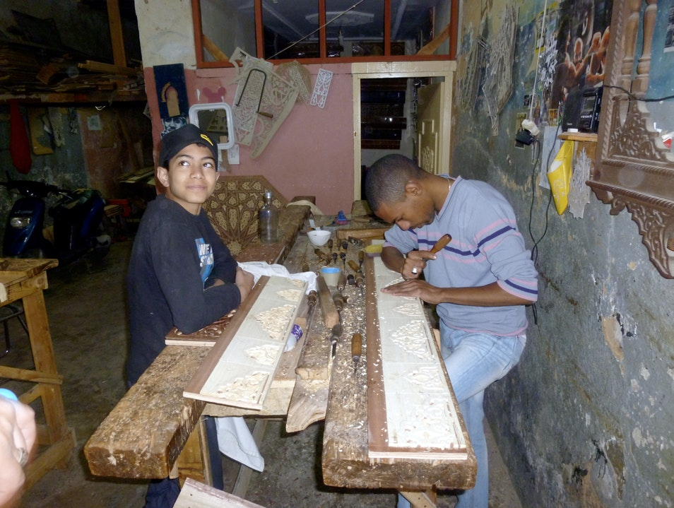 Wood Carvers of the Fes Medina
