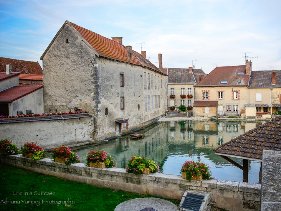 Quaint village in Champagne region
