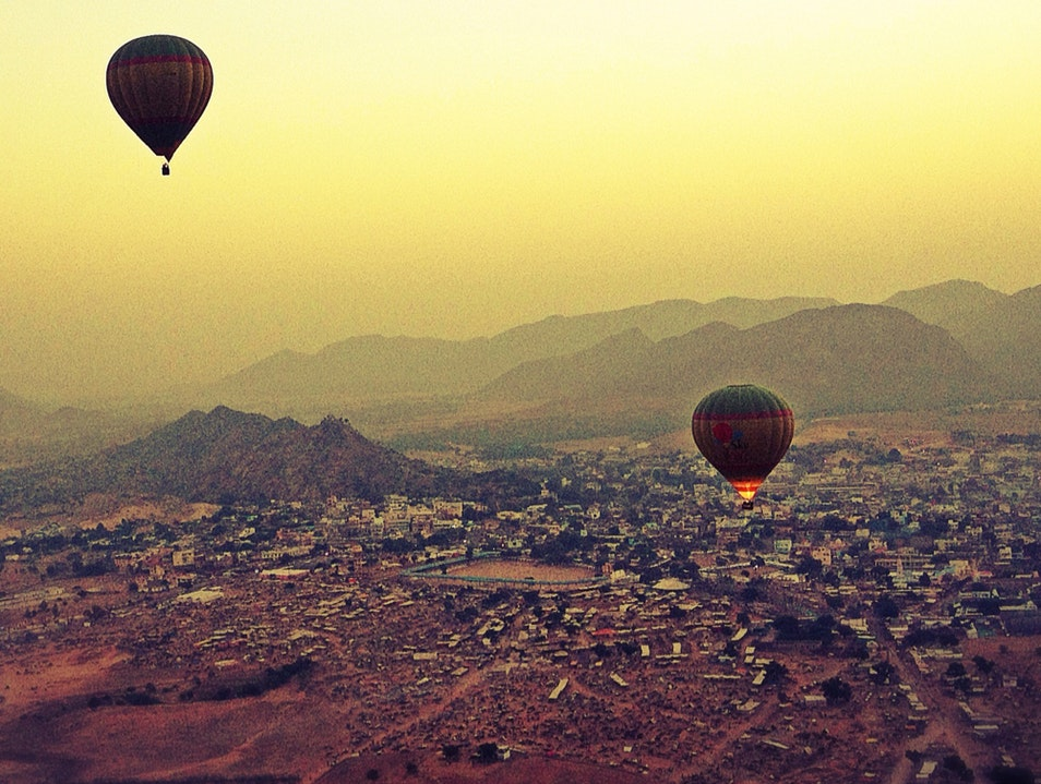 Floating Over The Fair Pushkar  India