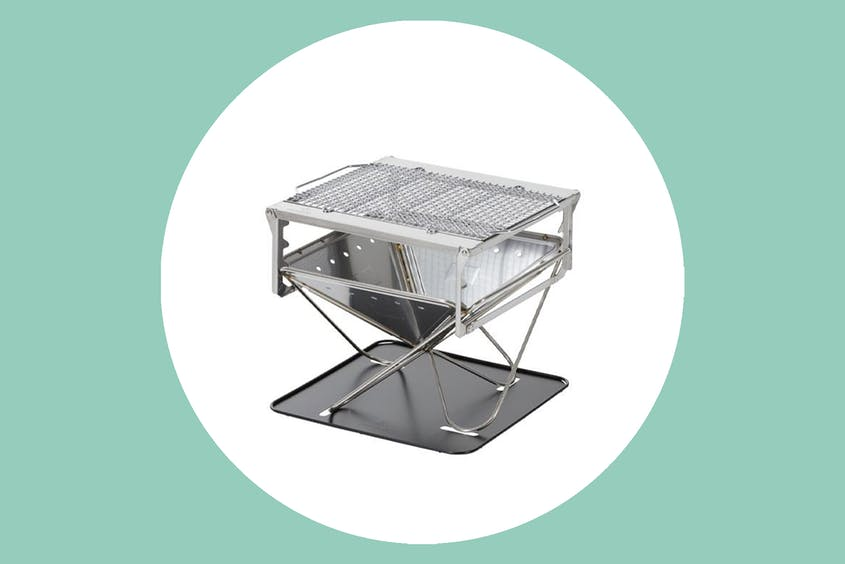 The Takibi Fire and Grill by Snow Peak will become the centerpiece of your campsite.