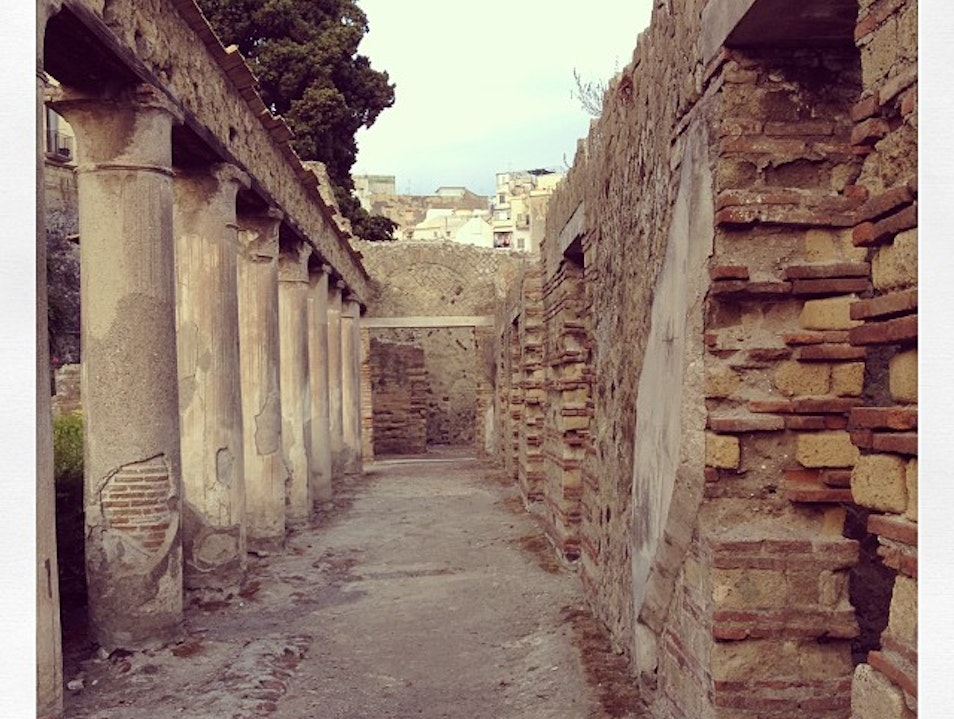 A Walk Down Avenues of a Dead City Pompeii  Italy