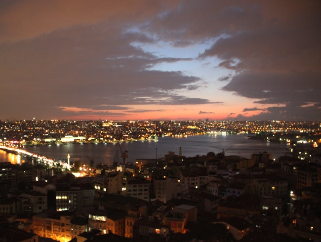 Sunset on Istanbul