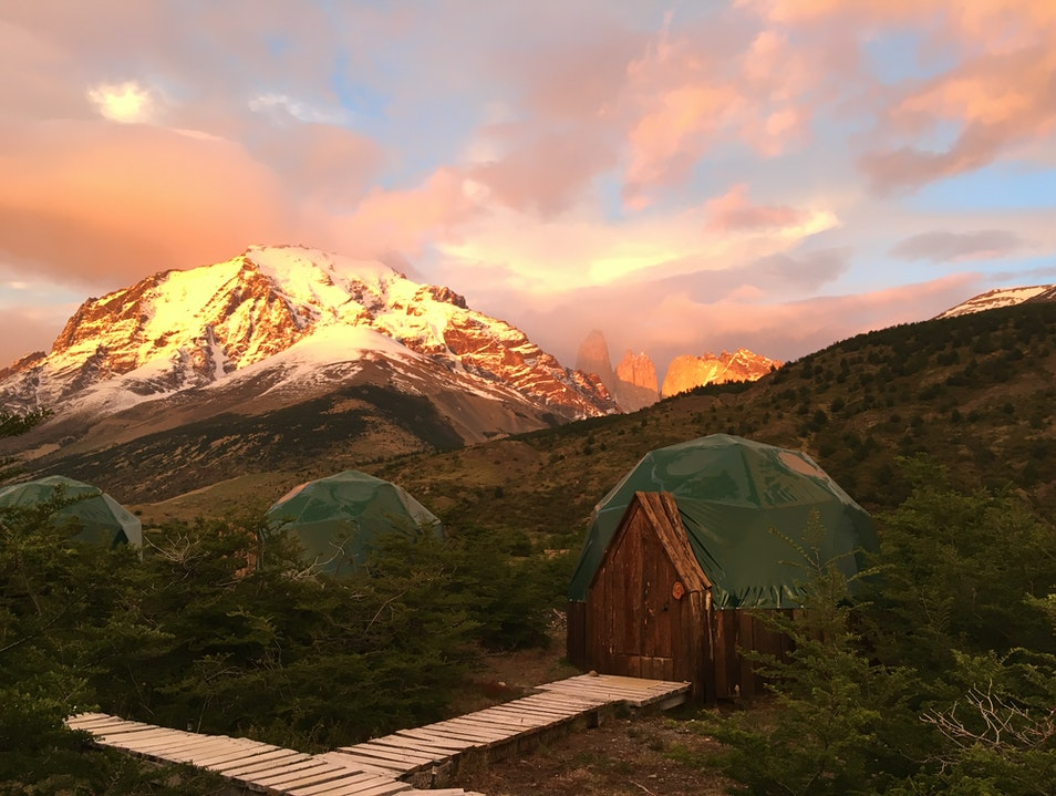 Sunrise at EcoCamp Torres del Paine  Chile