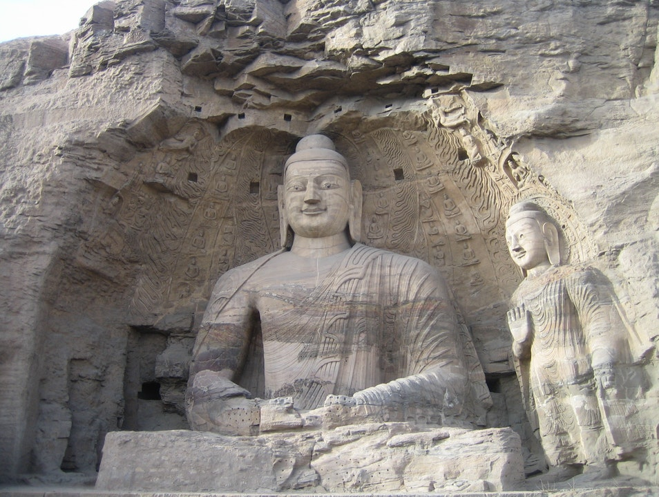 Surreal Landscape of Religious Sculptures Datong  China