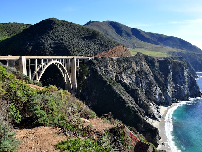 Crossing the Bixby Canyon Bridge