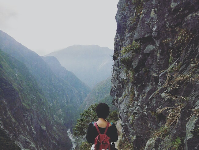 Breathtaking view of Taroko Gorge from Zhuilu Cliffs