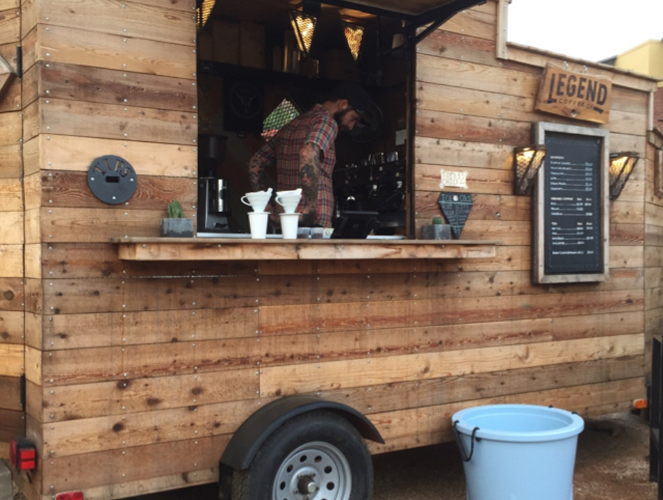 Great Coffee from a Wooden Trailer While You Wait Austin Texas United States