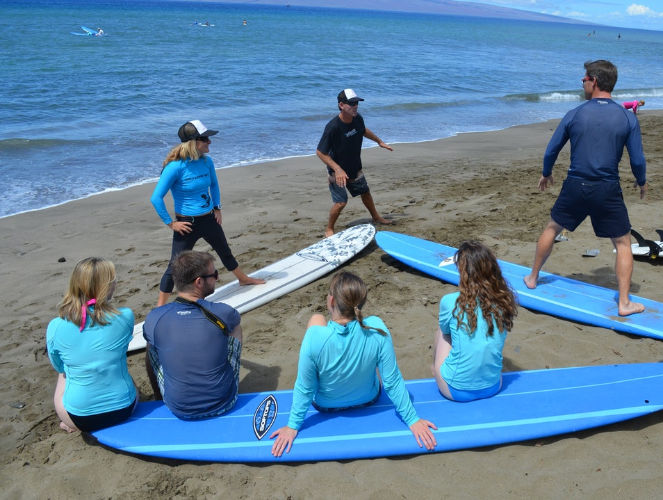 Surfing with Maui Surfer Girls Lahaina Hawaii United States