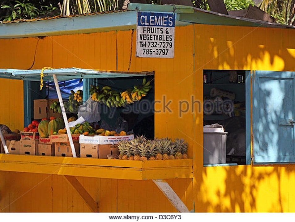 Clemes Fruit Stand Old Road  Antigua and Barbuda