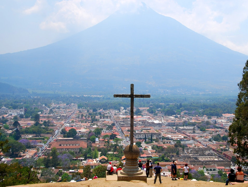 View from the Cross Antigua Guatemala  Guatemala
