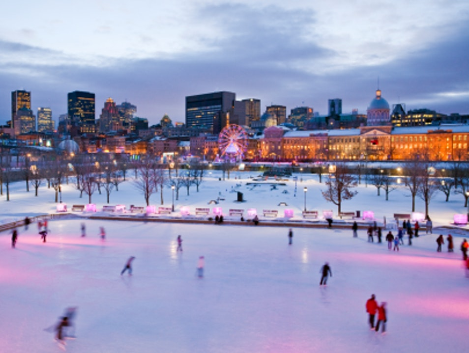 Winter Sports with a View in Old-Montreal Montreal  Canada