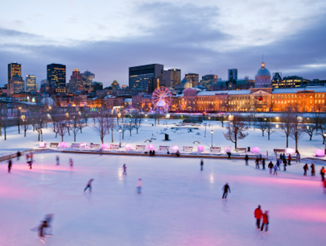 Winter Sports with a View in Old-Montreal