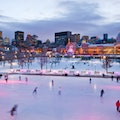 Bonsecours Basin Skating Rink Montreal  Canada