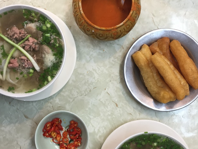 Eat pho with the locals at Phong Cuong