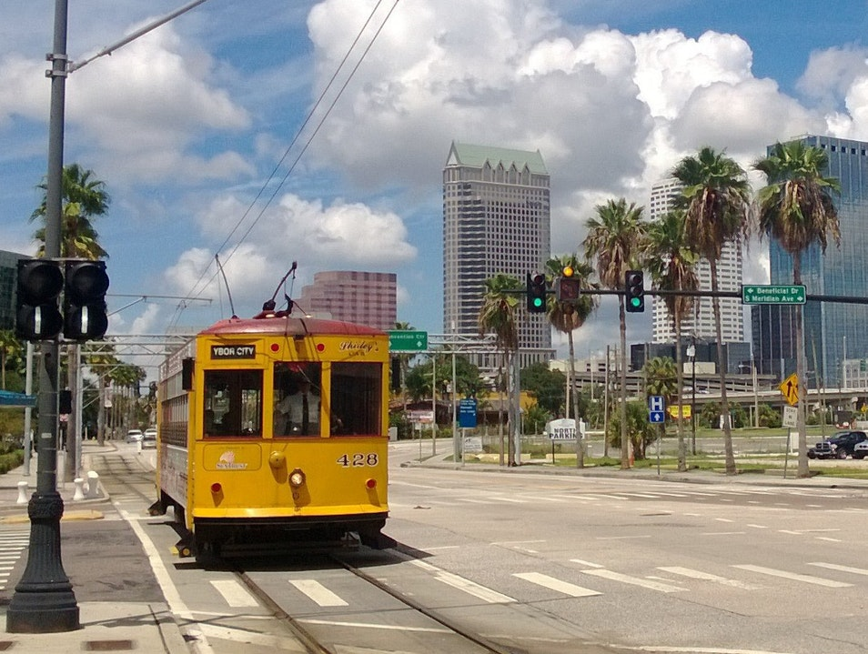 Convenient and Air-Conditioned, Riding the Rails in Downtown Tampa Tampa Florida United States