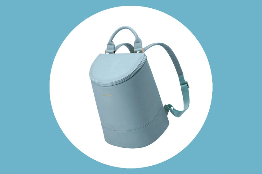 The Corkcicle Eola Bucket Bag comes in
