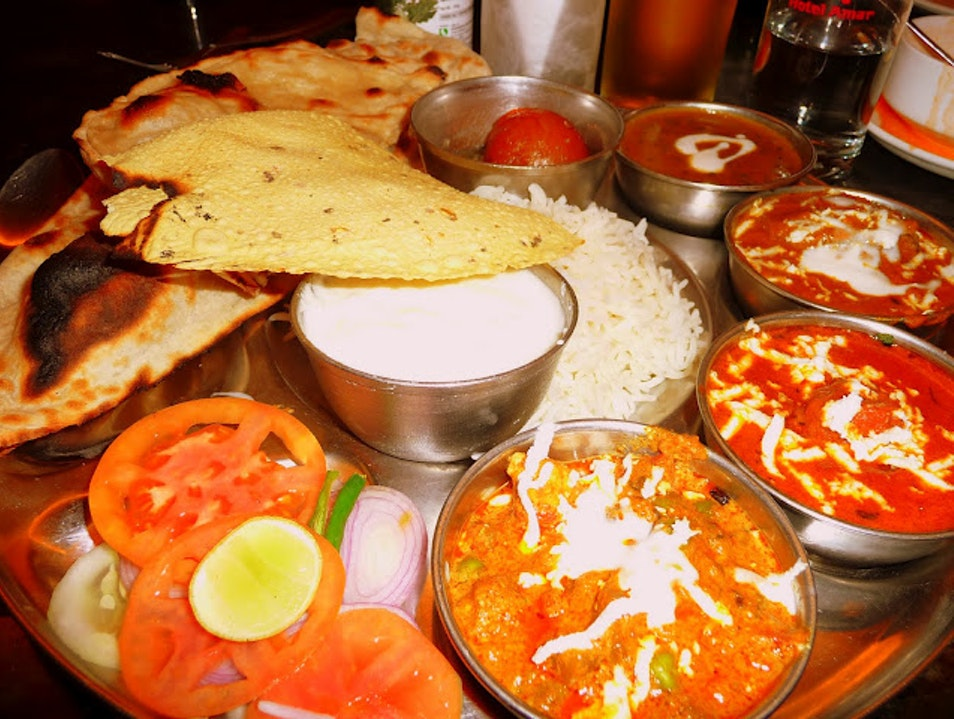 Tantalizing Indian Thali Agra  India