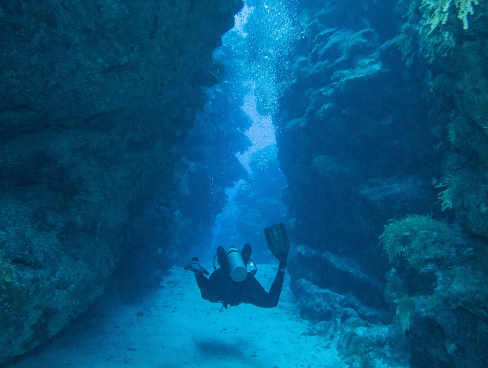 Dive Into the Devil's Grotto George Town  Cayman Islands