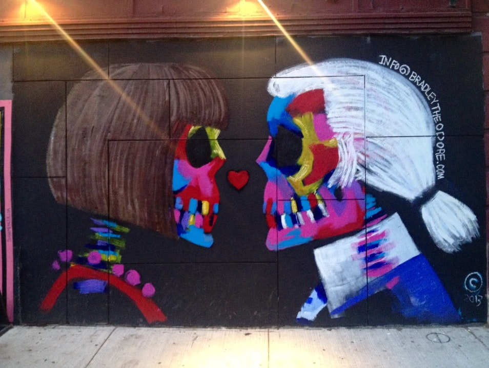 Fashion meets street art in NYC